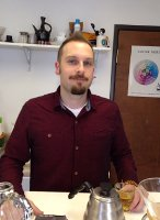 Brandon Bir from Crimson Cup Coffee & Tea earns Specialty Tea Institute certification