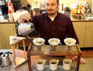 Crimson Cup Coffee & Tea offers a wide selection of coffee hand-pour equipment