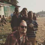 Brandon Bir with Ethiopian children