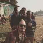 Brandon Bir with Ethiopian children