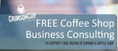 Free coffee shop business consulting from Crimson Cup Coffee & Tea