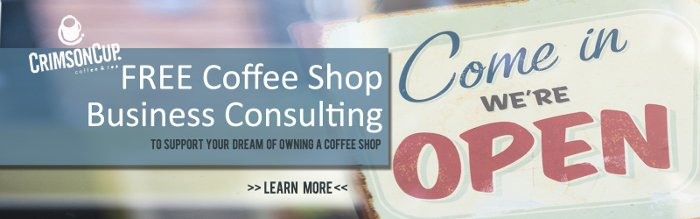 Free coffee shop business consulting Crimson Cup Coffee & Tea