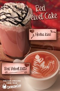 Crimson Cup Mocha Kiss and Red Velvet Late