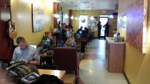 Interior of Creek Coffee House Lillington North Carolina
