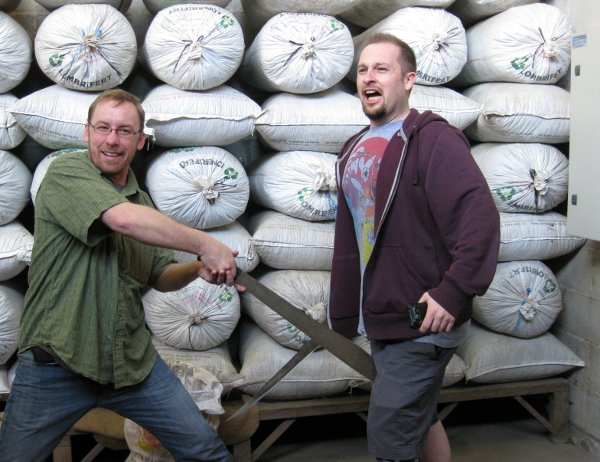 Coffee Buyers Dave Eldridge (left) and Brandon Bir in Antigua, Guatemala