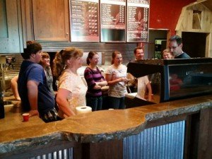 Steps Trainer Steve Bayless conducts training at Dawdy Haus Coffee, Springs, Pennsylvania