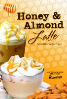 Honey Almond Latte from Crimson Cup Coffee & Tea