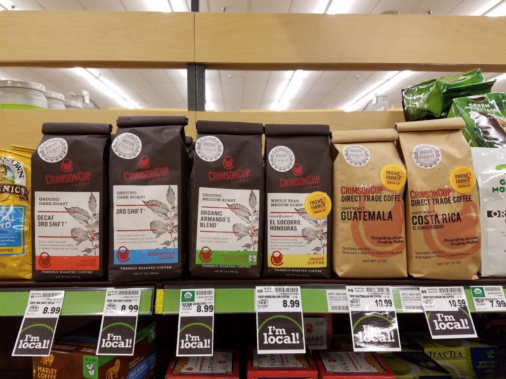 Crimson Cup Coffee in Kroger Stores