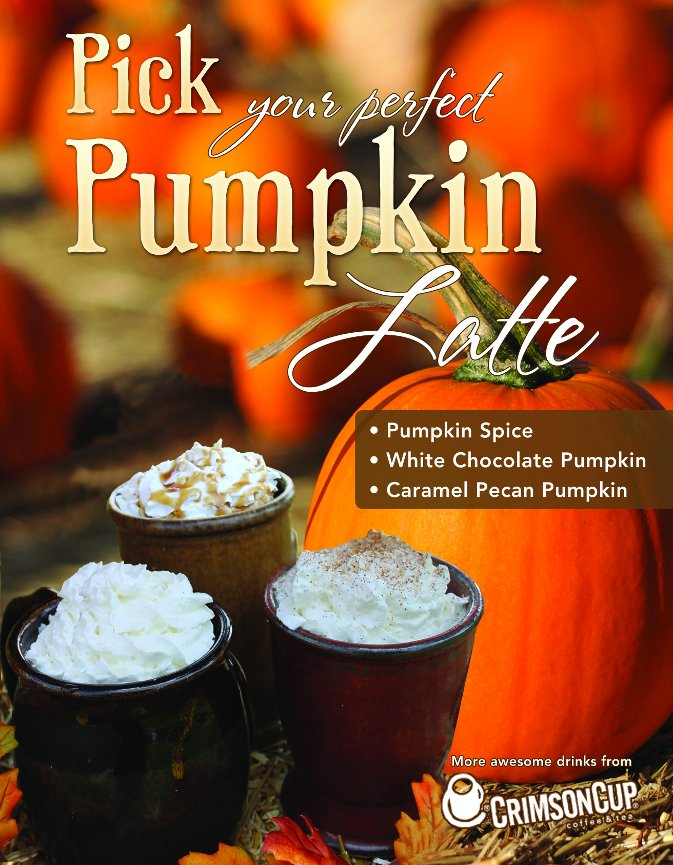 Crimson Cup Pumpkin Lattes