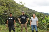 Crimson Cup coffee buyer on Finca Santa Rosa in Peru