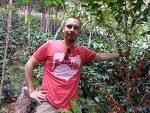 Brandon Bir on coffee farm in Peru