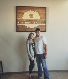 The Broken Mug coffee house in Columbus Nebraska serves Crimson Cup coffee