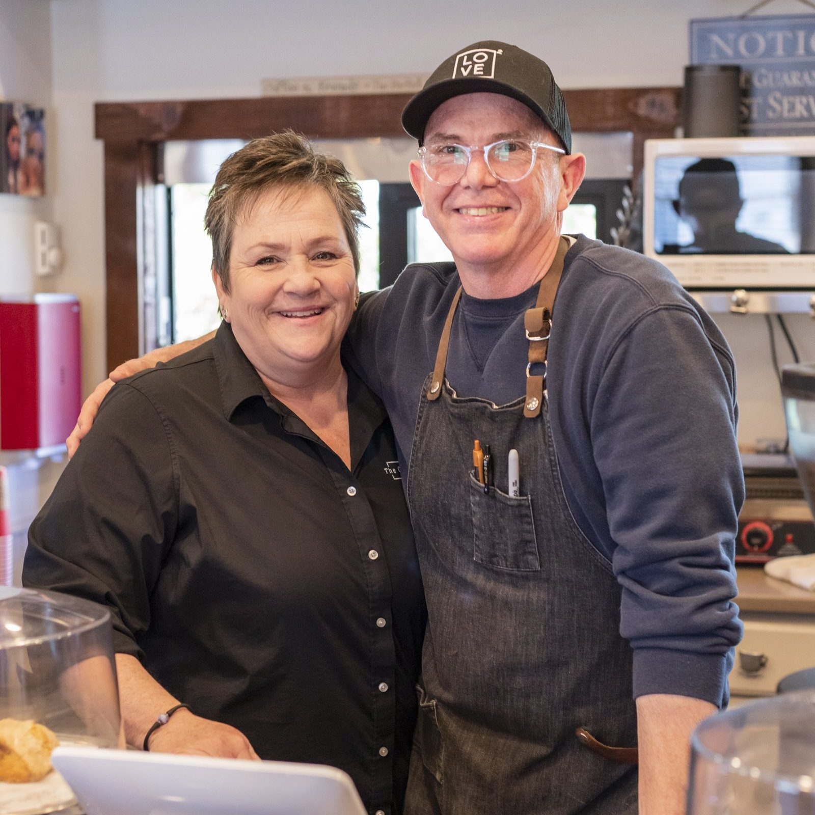 Geralyn and David Hickey, owners of The Coffee Potter