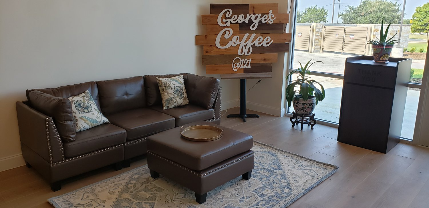 Welcome to George's Coffee @121 in Melissa, Texas