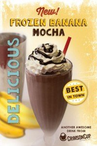 Frozen Banana Mocha from Crimson Cup Coffee & Tea