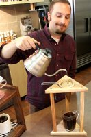 Hand-pour coffee from Crimson Cup Coffee & Tea