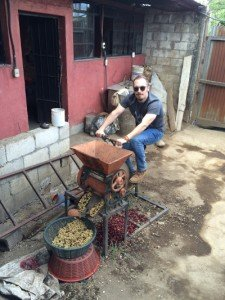 Crimson Cup's Brandon Bir at a coffee production facility in Guatemala