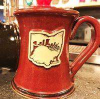 Crimson Cup - Columbus Skyline Ceramic Mug
