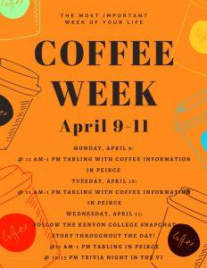 kenyon college coffee week poster