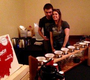 Crimson Cup coffee team at Columbus Underground Best Bites Brunch
