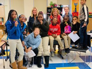 Crimson Cup Project Dream Volunteers with Ohio Avenue Elementary students