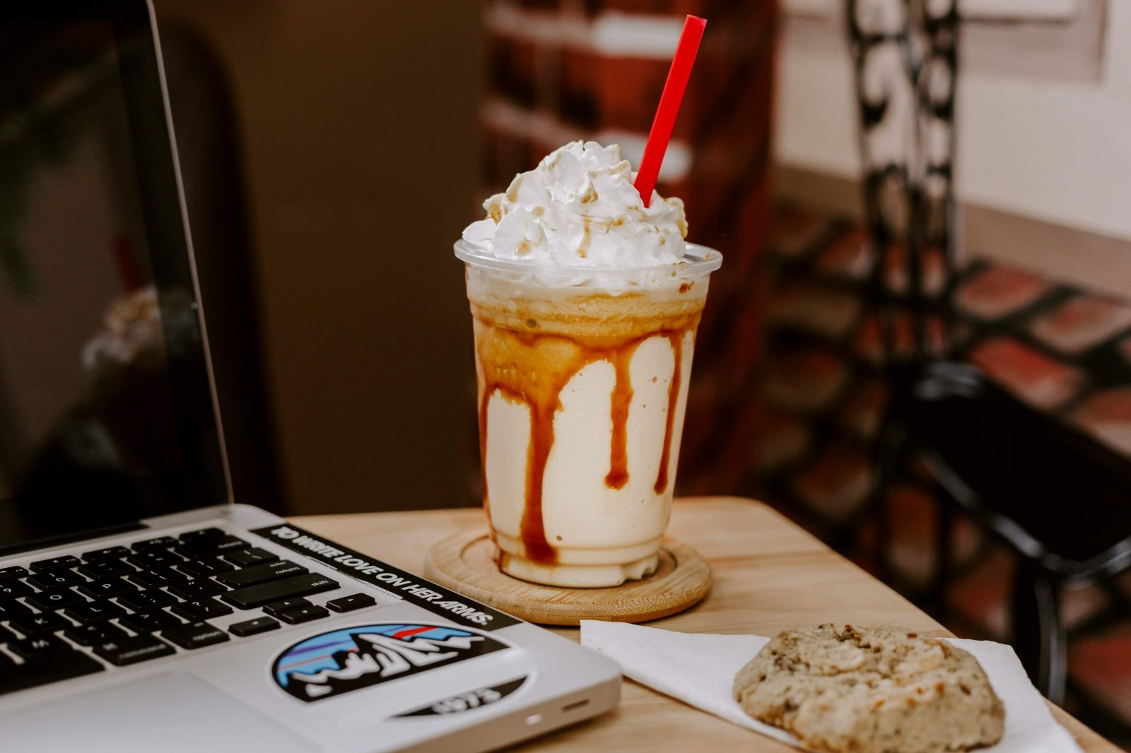 Frozen White Chocolate Mocha at Bradley's Gourmet Coffees and More in Whitley City, Kentucky