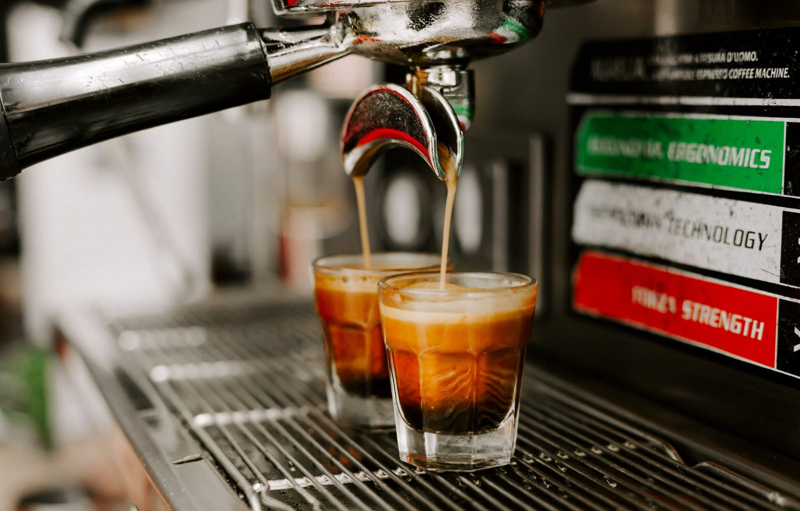 Espresso machine at Bradley's Gourmet Coffees and More