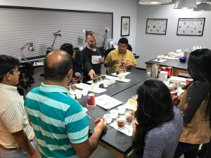 Peru NARSA coffee co-op at Crimson Cup Innovation Lab