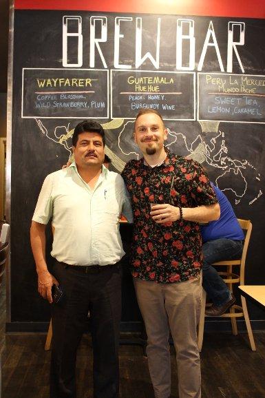 Julio Arevalo Tello and Brandon Bir Crimson Cup Coffee House Columbus Ohio