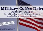 Crimson Cup military coffee drive