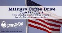 Crimson Cup military coffee drive