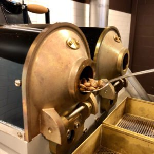 image of coffee roaster at Crimson Cup Coffee and Tea