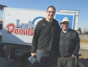 Steve Bayless from Crimson Cup Coffee & Tea and Terry Short of Leo's Donuts