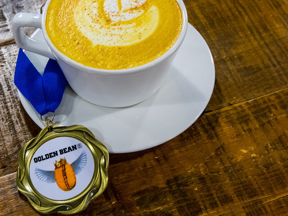 Can coffee protect against COVID-19? Drinks like this turmeric honey latte have antioxidant benefits.