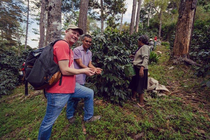 Greg Ubert on a coffee farm