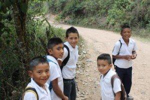 Crimson Cup Coffee & Tea works with students in Honduran Village of El Socorro de la Penitas