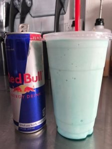 "Infused Red Bull Buckin"" Brew Espresso Casper Wyoming"
