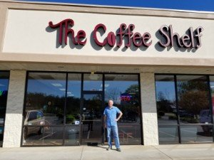 The Coffee Shelf in Chapin, South Carolina serves Crimson Cup Coffee & Tea