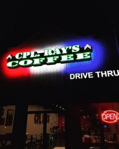 Cpl. Ray's Coffee Aledo Texas drive-thru