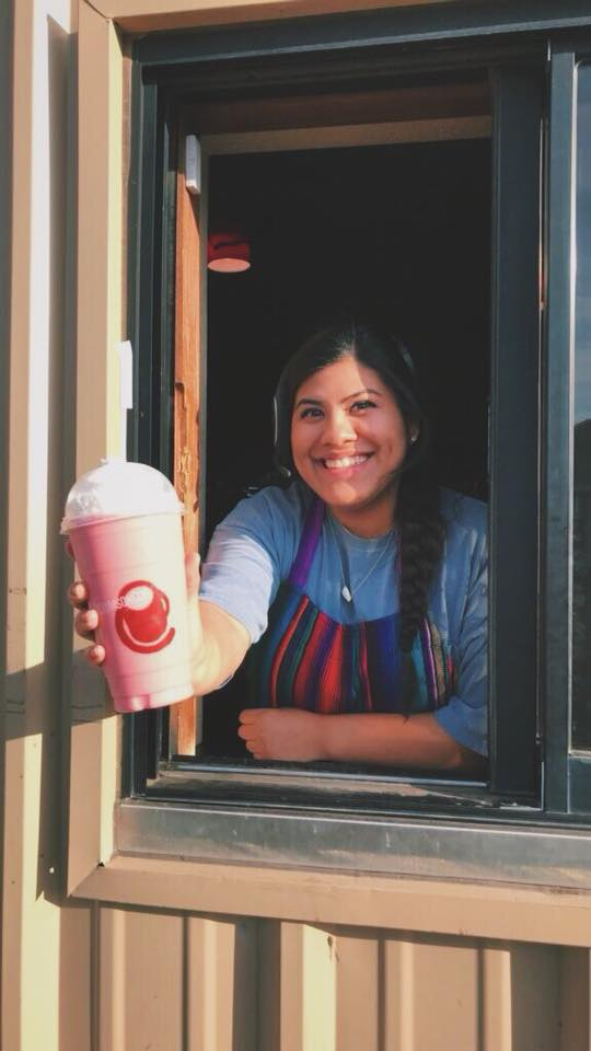 Drive thru service at Crimson Cup Coffee Houses
