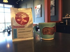 Crazy Llama Coffee serves Crimson Cup coffee