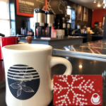 Crimson Cup Diner Mug and Holiday Gift Card