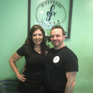 Katy and Travis McCabe Greenbean Coffee House