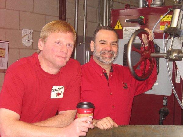 Greg Ubert and Armando Escobar Crimson Cup Coffee & Tea