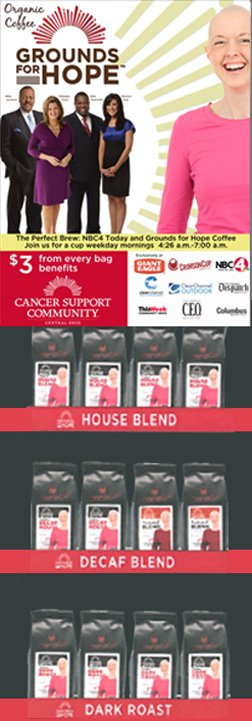 Crimson Cup roasts Grounds for Hope coffee supporting Cancer Support Community Central Ohio