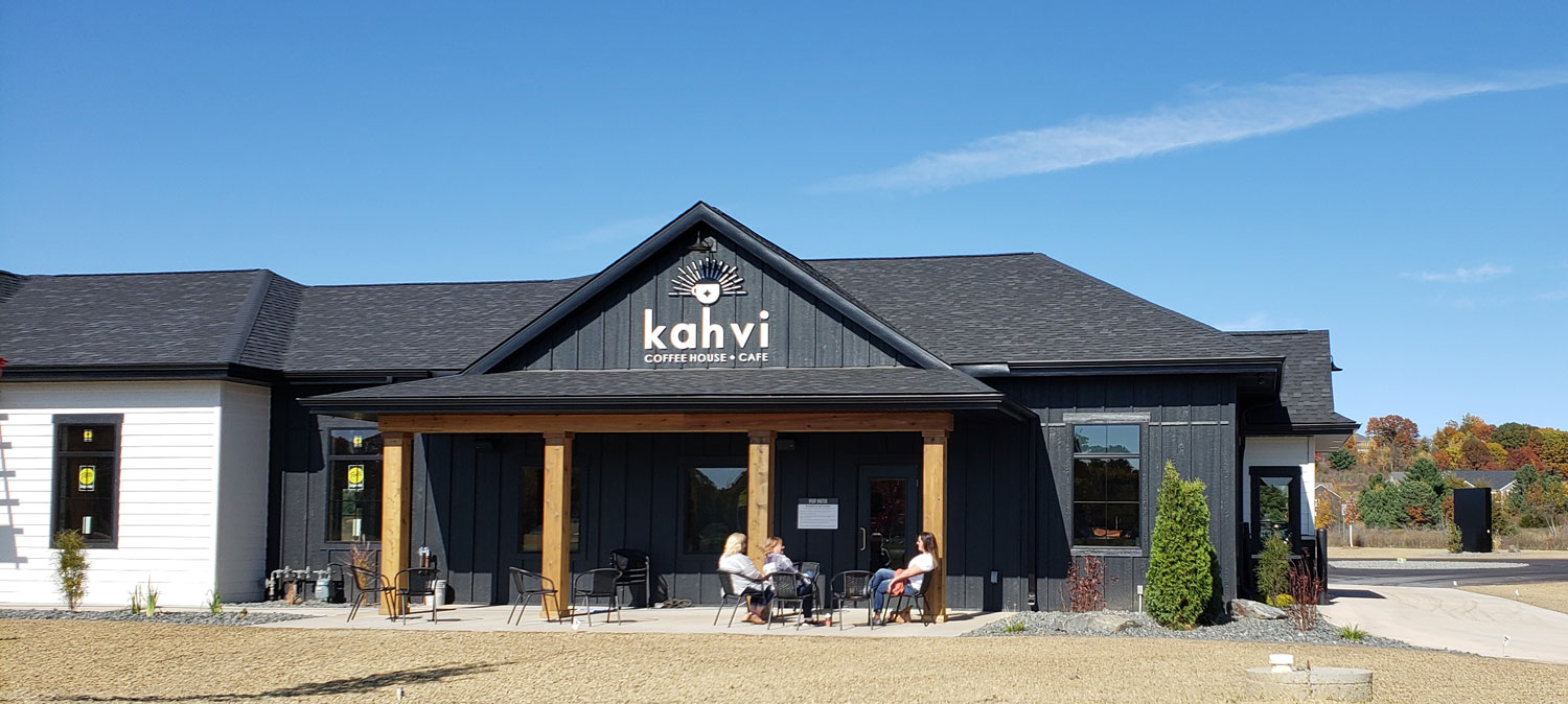 Exterior view of Kahvi Coffee House + Cafe in Eau Claire Wisconsin