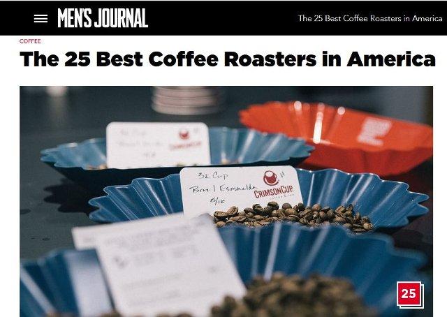 Men's Journal Top 25 Coffee Roasters in America - Crimson Cup Coffee & Tea
