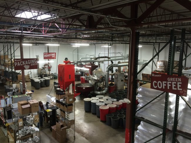 Crimson Cup Coffee & Tea roasting and distribution facility