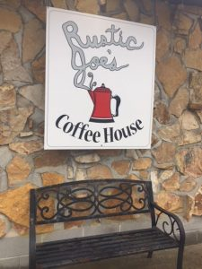 Rustic Joe's Coffee House at Leber's Log Cabins