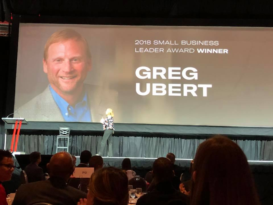 Greg Ubert receives 2018 Columbus Chamber Small Business Leader Award